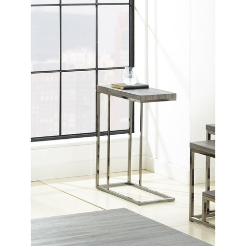 Steve Silver Lucia Chairside End Table with Black Nickel