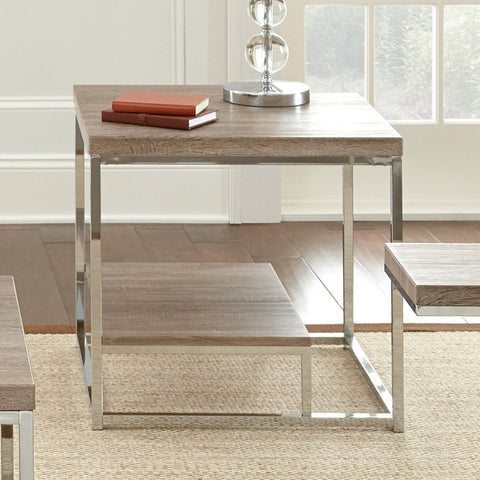 Steve Silver Lucia End Table in Brown