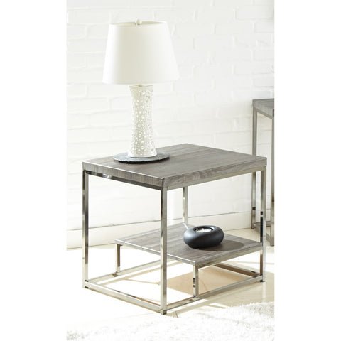 Steve Silver Lucia End Table with Black Nickel