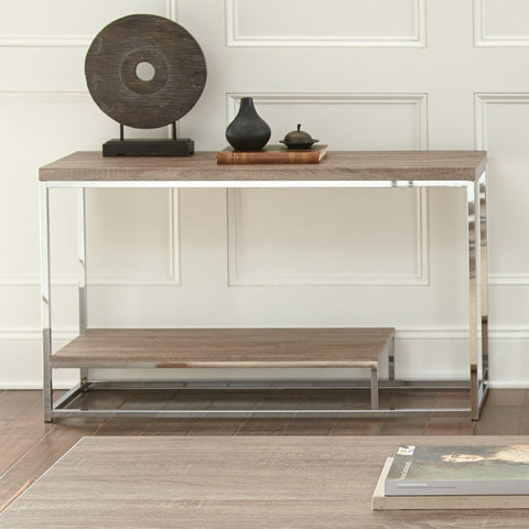 Steve Silver Lucia Sofa Table in Brown