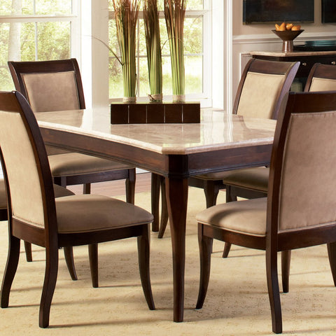 Steve Silver Marseille Dining Table in Merlot Cherry
