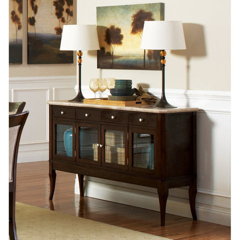 Steve Silver Marseille Marble Top Sideboard