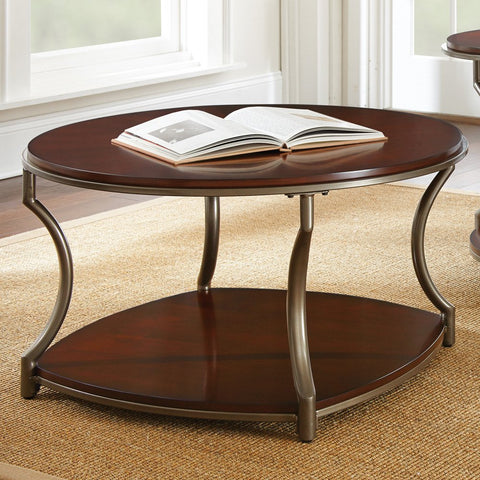 Steve Silver Maryland Cocktail Table in Medium Cherry