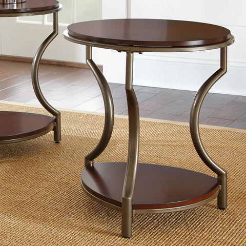 Steve Silver Maryland End Table in Medium Cherry