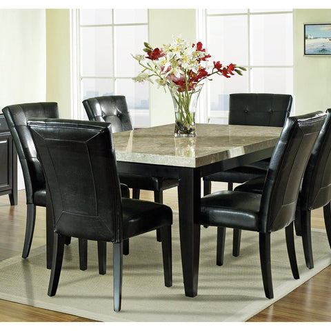 Steve Silver Monarch 7 Piece Marble Top Dining Room Set