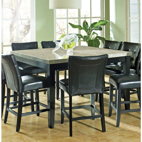 Steve Silver Monarch Marble Top Counter Height Table in Black