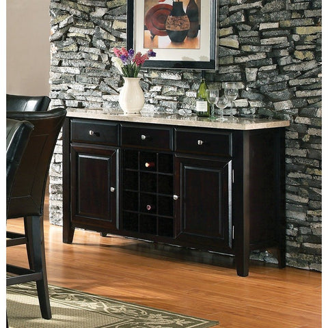 Steve Silver Monarch Marble Top Server w/ Wine Rack