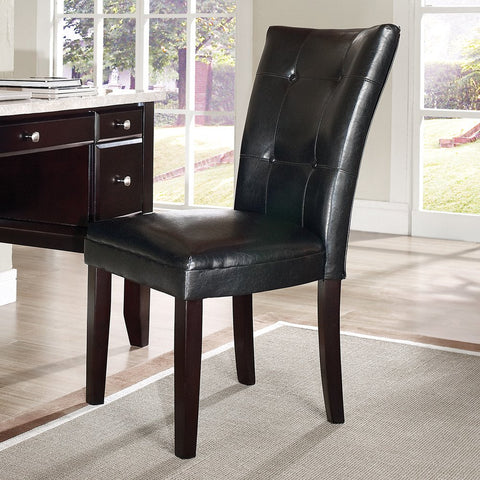 Steve Silver Monarch Parsons Chair w/ Black Vinyl Upholstery