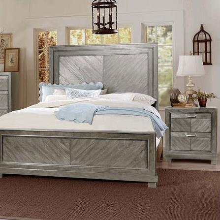 Steve Silver Montana 2 Piece Platform Bedroom Set in Gray