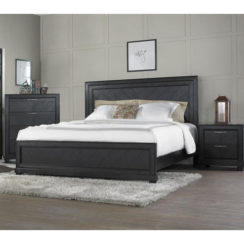Steve Silver Montana 3 Piece Platform Bedroom Set in Dark Oak