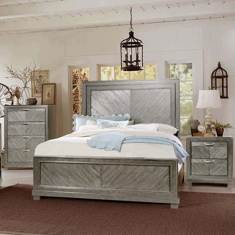 Steve Silver Montana 3 Piece Platform Bedroom Set in Gray