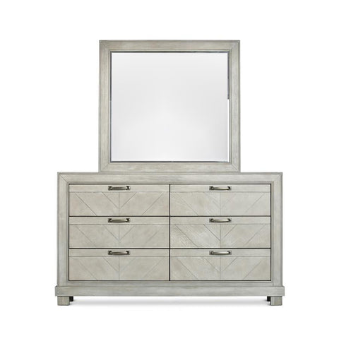 Steve Silver Montana 6 Drawer Dresser & Mirror in Gray