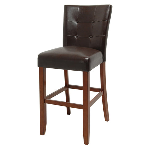 Steve Silver Montibello Bar Chair in Dark Brown Vinyl