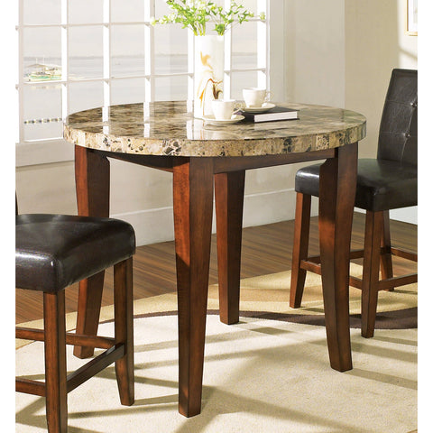 Steve Silver Montibello Marble Top Counter Height Table in Rich Cherry
