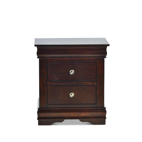 Steve Silver Orleans 2 Drawer Nightstand in Cherry