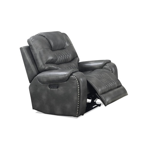 Steve Silver Park Avenue Power Reclining Loveseat with Console In Grey