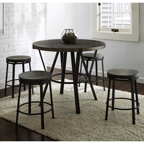 Steve Silver Portland 5 Piece Round Counter Table Set