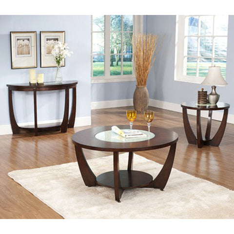 Steve Silver Rafael 3 Piece Round Coffee Table Set in Cherry