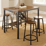 Steve Silver Rebecca Counter Stool in Weathered Catalpa