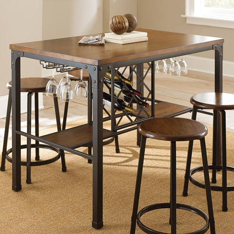 Steve Silver Rebecca Counter Table in Weathered Catalpa