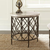 Steve Silver Roland End Table w/Bronze Frame