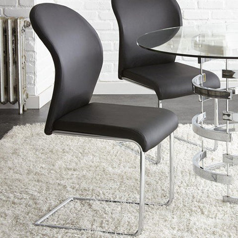 Steve Silver Tayside Side Chairs In Black