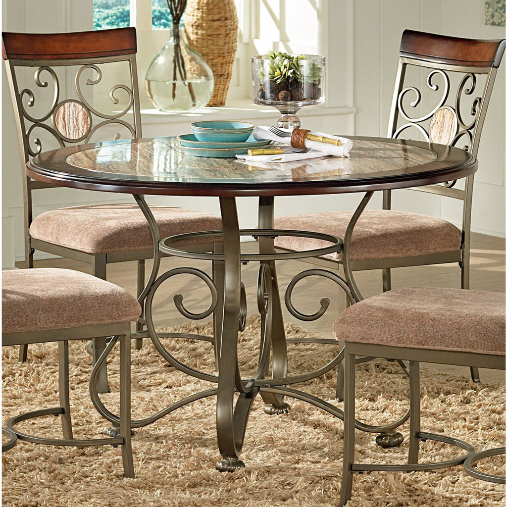 Steve Silver Thompson Dining Table W Faux Marble Inlay Beyond Stores