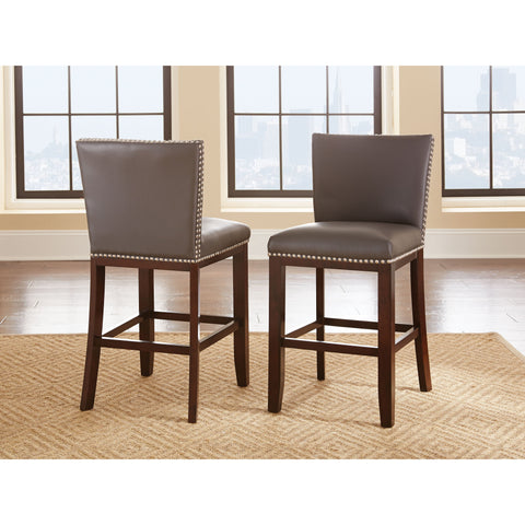 Steve Silver Tiffany Vinyl Chairs In Gray