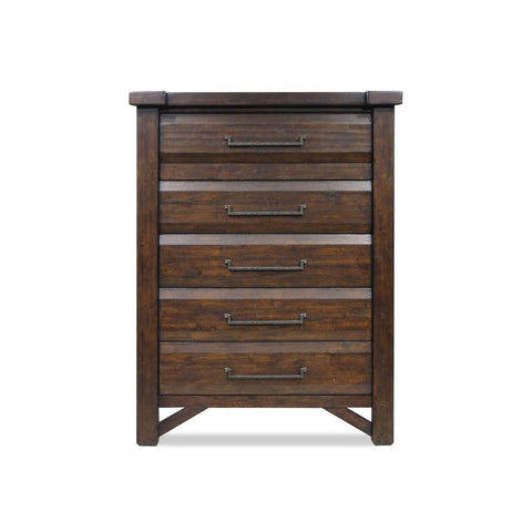 Steve Silver Timber 5 Drawer Chest in Distressed Chestnut