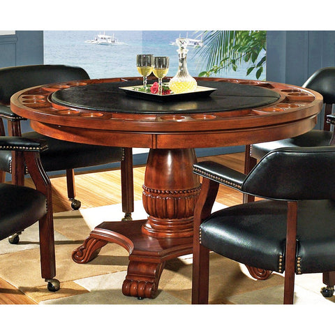 Steve Silver Tournament Game Table in Brown