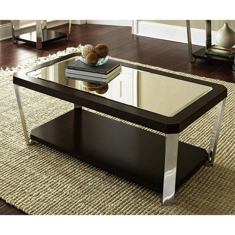 Steve Silver Truman Cocktail Table w/Casters in Espresso
