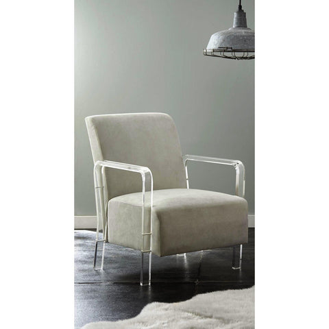 Steve Silver Tyra Arm Chair in Ivory