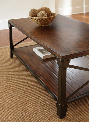 Steve Silver Winston Cocktail Table In Distressed Tobacco Beyond