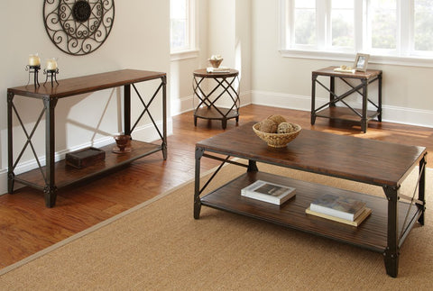 Steve Silver Winston Sofa Table In Distressed Tobacco Beyond Stores