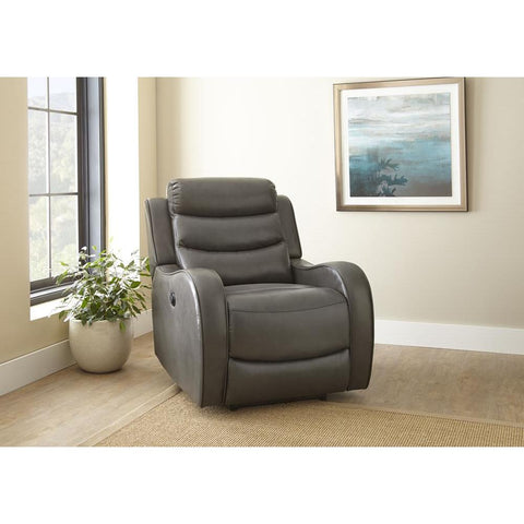 Steve Silver Wyatt Grey Power Recliner