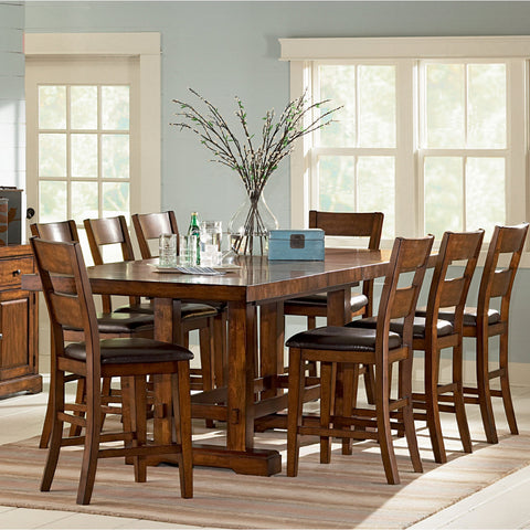 Steve Silver Zappa 9 Piece Counter Height Set w/ Leaf