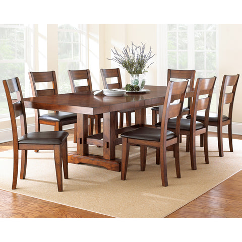 Steve Silver Zappa 9 Piece Dining Room Set in Medium Cherry
