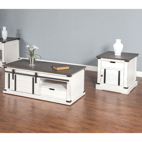 Sunny Designs 2 Piece French Country Coffee Table Set