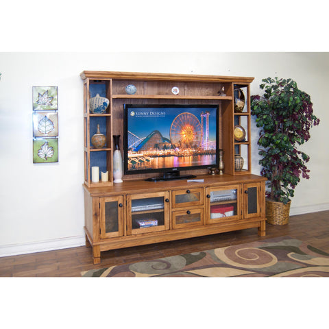 Sunny Designs 2702RO-TC Sedona TV Console In Rustic Oak