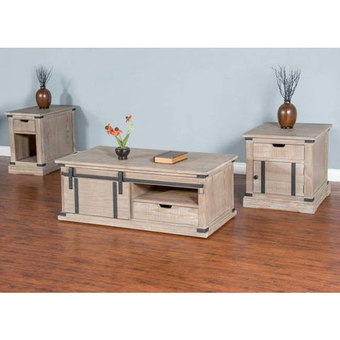 Sunny Designs 3 Piece Mountain Smoke Coffee Table Set
