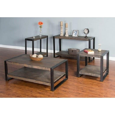 Sunny Designs 3 Piece Tobacco Leaf Coffee Table Set