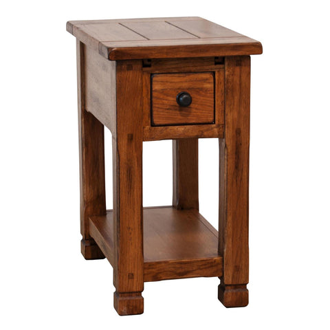 Sunny Designs 3133RO-CS Sedona Chair Side Table In Rustic Oak
