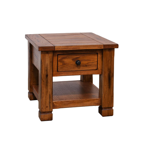 Sunny Designs 3134RO Sedona End Table In Rustic Oak