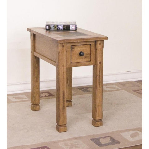 Sunny Designs 3143RO-CS Sedona Chair Side Table In Rustic Oak