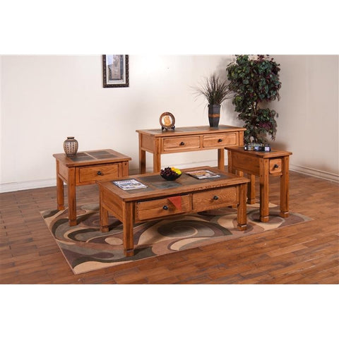 Sunny Designs 3144RO Sedona End Table In Rustic Oak