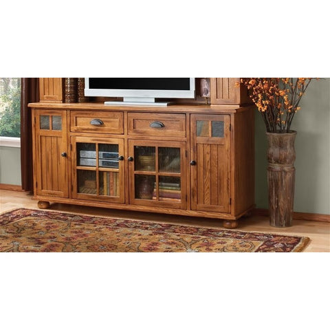 Sunny Designs 3322RO-TC Sedona TV Console In Rustic Oak