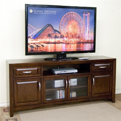 Sunny Designs 3332CA-TC TV Console In Cappuccino