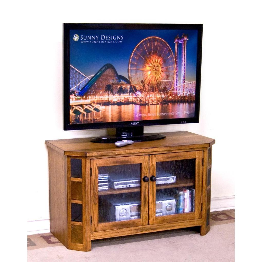 Sunny Designs 3395ro Sedona Tv Console In Rustic Oak Beyond Stores