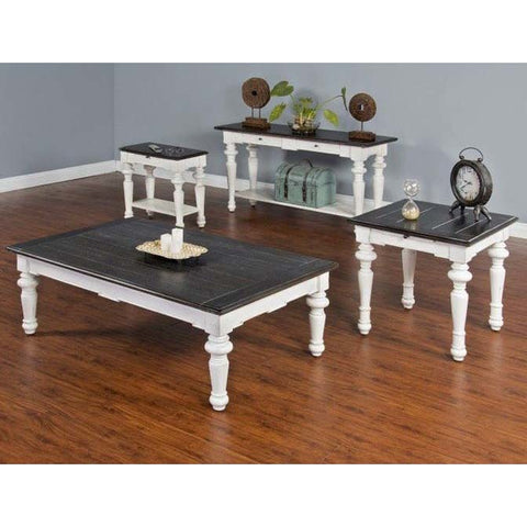 Sunny Designs 4 Piece European Cottage Coffee Table Set