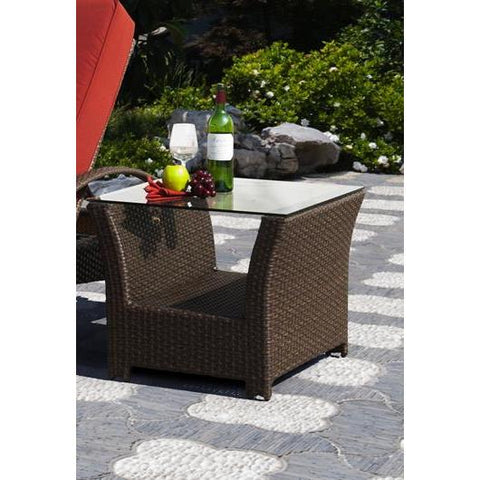 Sunny Designs Avalon End Table In Woven